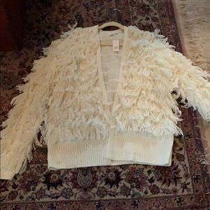 NWT Gap large tall fringe sweater